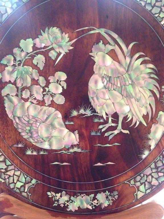 Cẩn ốc đĩa gỗ - Khảm trai đĩa gỗ tại Hồ Chí Minh