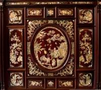 Tủ thờ gỗ trắc, tủ thờ gỗ trắc xưa cẩn ốc 7 màu